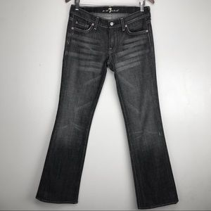 7 For all Mankind Dark Wash Low Rise Bootcut Jeans